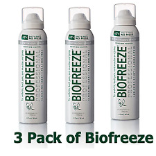 Biofreeze 360 Degree Pain Relief Spray - 4 oz (Pack of 3)