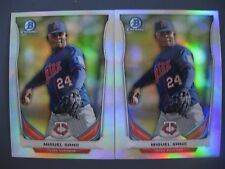 (2) MIGUEL SANO RC REFRACTOR LOT 2014 BOWMAN CHROME REFRACTOR #CTP-2