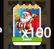 Santa Coin Master 100 Cards