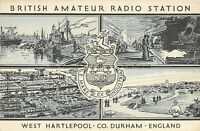Durham West Hartlepool British Amateur Radio Station Vintage Postcard 28.2