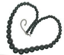 Dark Green Big Bead Beads Necklace Party Formal Wedding Jewellery