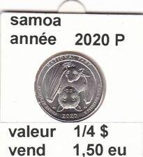 pièces de 1/4 $  samoa  2020 P