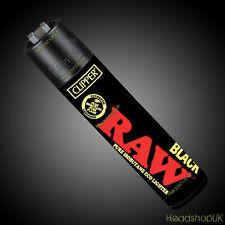 4 x Clipper Lighters RARE Gas Lighter Refillable Flint | RAW BLACK CLIPPER