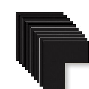 Frame Amo Black Mats for Picture or Poster Frame, with Bevel Cut 1, 3 or 10 PACK
