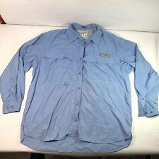 Womens Columbia Pfg Long Sleeve Button Down Light Blue XL