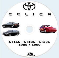 Workshop Manual Toyota CELICA 4WD Turbo ST205,ST185 e ST165.Manuale Riparazioni