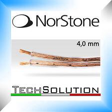 Norstone CL40 Cavo Audio Rame OFC Diffusori 2 x 4,0 mm Diffusori Speaker HiFi