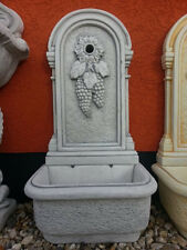 Wandbrunnen, Gartenbrunnen, Brunnen, Wasserstelle, Steinguss, Top Gartendeko