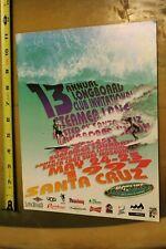 SANTA CRUZ Steamer Lane Longboard Club Surfer Bear Rare 1997 Cr8 Contest PROGRAM