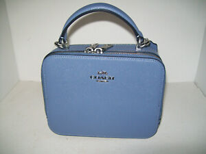 Coach Box Crossbody Periwinkle