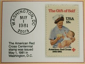 1981 18c The American Red Cross Stamp