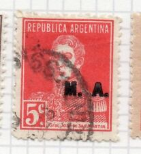 Argentina 1923 Early Official MA Optd Issue Fine Used 5c. 188414