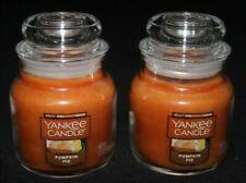 Yankee Candle - 2 Small Jars Pumpkin Pie 3.7oz - NEW