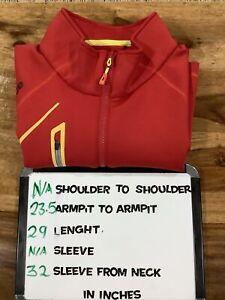 Sunice Performance Golf ⛳ 1/4 Zip Sweater Men's L Red Pullover
