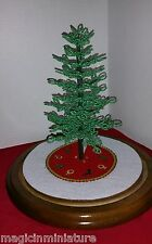 Westrim Beaded Mini Christmas Tree / white & red skirts, New, very pretty color