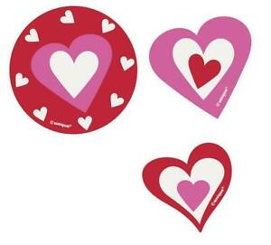 Valentines Day Heart Card Confetti Cut Outs (24 Pack)