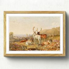 Multi-Colour Vintage Landscape Art Prints
