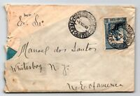 Cape Verde 1948 Cover to New York / 1.75 Single / Corner Crease - Z13338