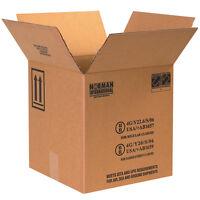 "Box Partners Plastic Jug Haz Mat Boxes 4 - 1 Gallon 12 1/4"" x 12 1/4"" x 12 3/4"""