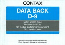Data Back D-9 Contax Bedienungsanleitung Manual Instruction