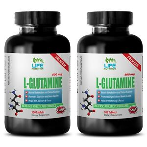 workout supplement - PREMIUM L-GLUTAMINE 500mg 2B - muscle and bone health