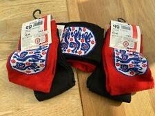 BOY'S OFFICIAL ENGLAND CREST SOCKS 6 PAIRS 4-6.5 NEW RRP £17.97