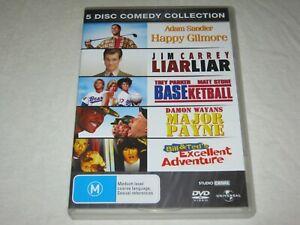 Happy Gilmore + Liar Liar + Baseketball + Major Payne + Region 4 - VGC - DVD