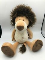 NICI Lion Dark Maine Hood Plush Kids Soft Stuffed Toy Animal Brown Teddy Bear