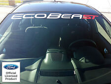 NEW ECOBEAST ST  WINDSHIELD BANNER FORD FOCUS FIESTA ST VINYL GRAPHICS STICKERS