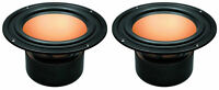 "NEW (2) 6"" Replacement Woofers Speaker.8 ohm shielded.Monitor type.7"" frame PAIR"