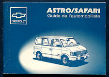 Owner's Manual * Betriebsanleitung 1993 Chevrolet Astro Van / GMC Safari (F)