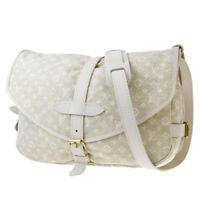 Authentic LOUIS VUITTON Saumur PM Shoulder Bag Monogram Mini Lin M95314 18BQ825