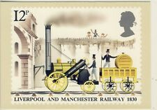 C 051 BRITISH PHQ POSTCARD LIVERPOOL AND MANCHESTER RAILWAY