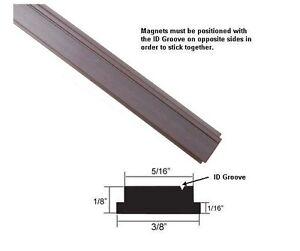 """Flexible Magnetic Insert Strip for Framed Shower Doors - 84"""" long"""