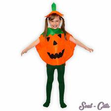 Costume Lot Citrouille pour Enfants Halloween Avec Chapeau Carnaval