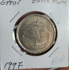 1997 50sen extra metal  parlimen parliament error coin 50cents  #668