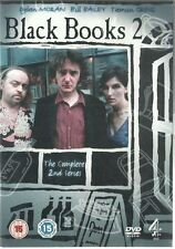 BLACK BOOKS Complete Series 2 DVD Channel 4 comedy Bill Bailey Dylan Moran C4