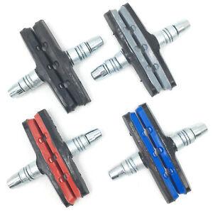 V Brake Pads Threaded Nut & Washers Bike Replacement Break Blocks All Colours