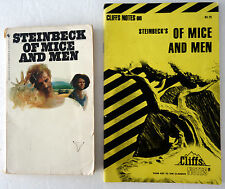 John Steinbeck Of Mice and Men and Cliffs Notes Study Guide Lot 2 PB