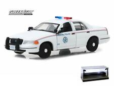 DIECAST CAR W/LED CASE 2010 FORD CROWN VICTORIA USPS POLICE GREENLIGHT 1/43