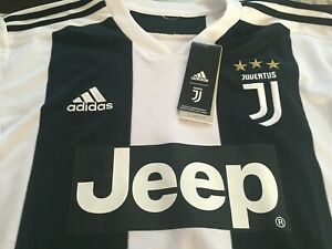 BOYS YOUTH ADIDAS CLIMALITE JUVE JUVENTUS Soccer Jersey S SM WHITE/BLACK NWT $70