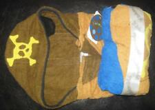 KIDORABLE PIRATE TODDLER TOWEL Kids Hooded Brown Plush Terry