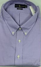 Polo Ralph Lauren Dress Shirt Mens 21 38 39 Classic Fit Purple Green Pony