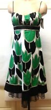 SPEECHLESS Green & Black Tulip Dress Empire Sleeveless Rockabilly Pinup Size 9