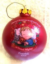 Campbell's Soup 2001 Collectible M'mm M'mm Good Red Round/Ball Ornament