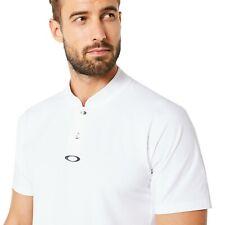 Oakley Engineered Polo Bomber Collar Mens Size XXL Plain White Casual Tee Shirt