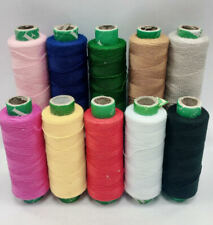 10 MIXED COLORS POLYESTER THREAD SPOOLS MACHINE & HAND SEWING 175 YARDS EACH