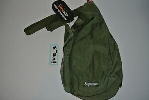 NEW FW20 SUPREME SLING BAG OLIVE box logo cdg authentic limited sold out
