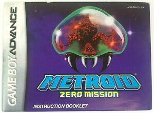 Metroid: Zero Mission (Game Boy Advance, GBA 2004) Manual ONLY!!! Fast Shipping