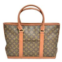 Authentic Louis Vuitton Weekend PM Monogram Shoulder Hand Bag Brown Gold France